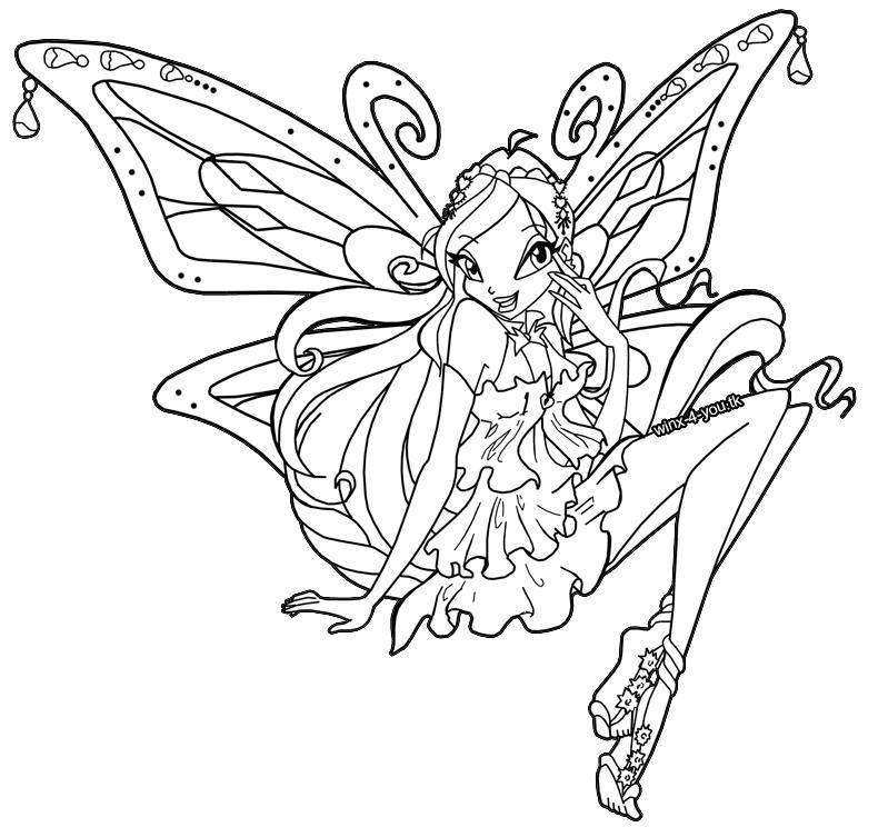 9 dessins de coloriage Winx Club Bloom à imprimer