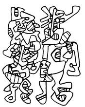 20 dessins de coloriage Zebre Vasarely à imprimer