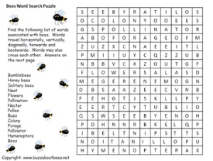 Bee Coloring Pages, Educational Activity sheets And