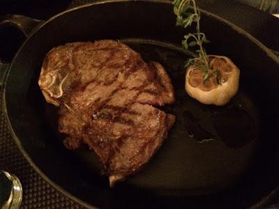 Steak dinner in London