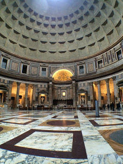 Inside the Pantheon in Rome