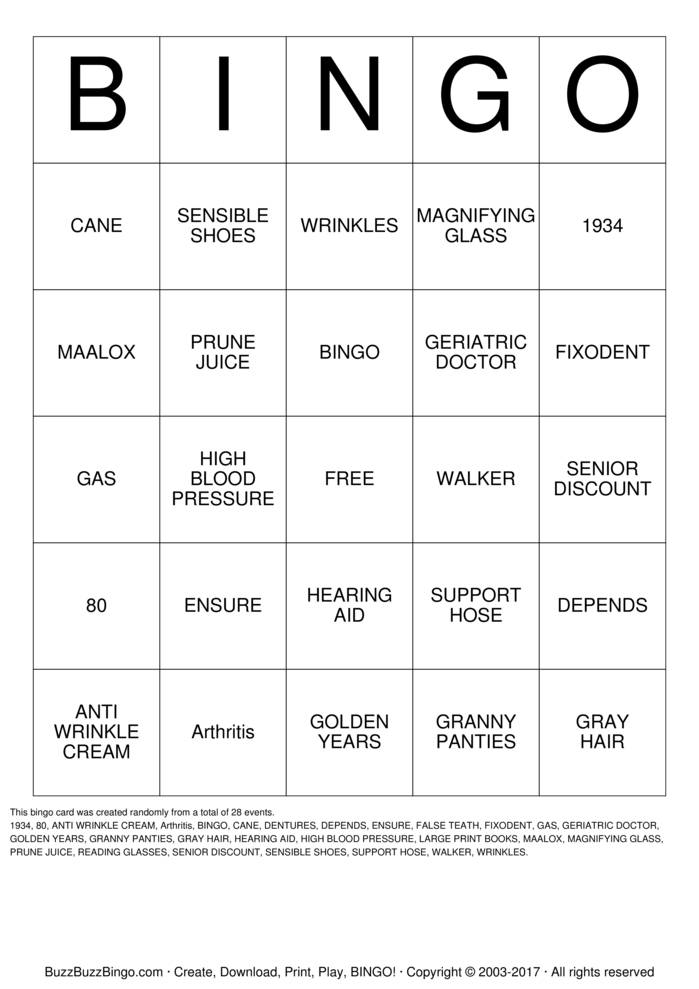 Happy 80th Birthday!! Bingo Cards To Download Print And