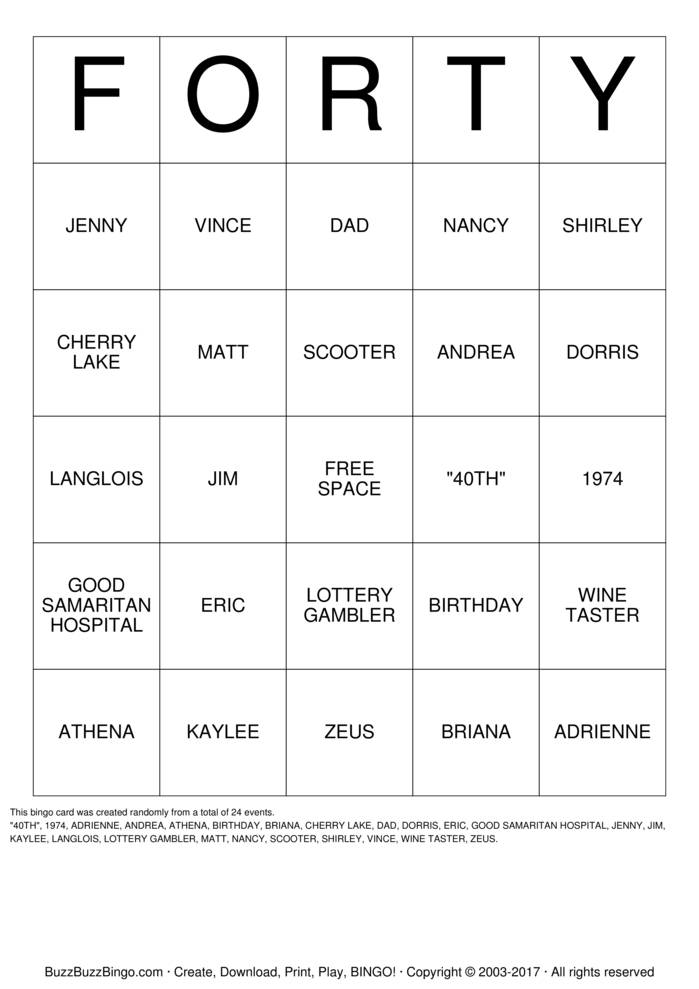 BIRTHDAY Bingo Cards To Download Print And Customize!