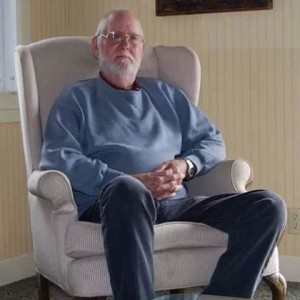 dad in white chair
