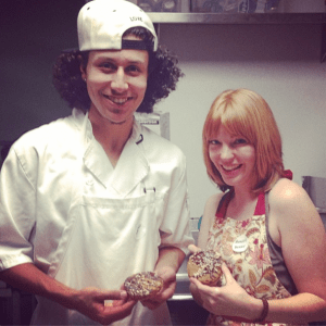 Ashley and Charlie Baking Vegan Cake
