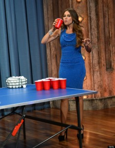 If you head to a classy party or bar, I promise Sofia Vergara will not play beer pong looking like this. As cool as that would be.