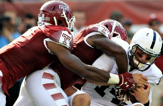 Sep 5, 2015; Temple defeats PSU - Credit: Matthew O'Haren-USA TODAY Sports