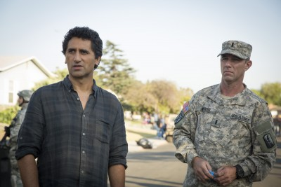 Cliff Curtis as Travis and Jamie McShane as Lt. Moyers - Fear The Walking Dead _ Season 1, Episode 4 - Photo Credit: Justina Mintz/AMC
