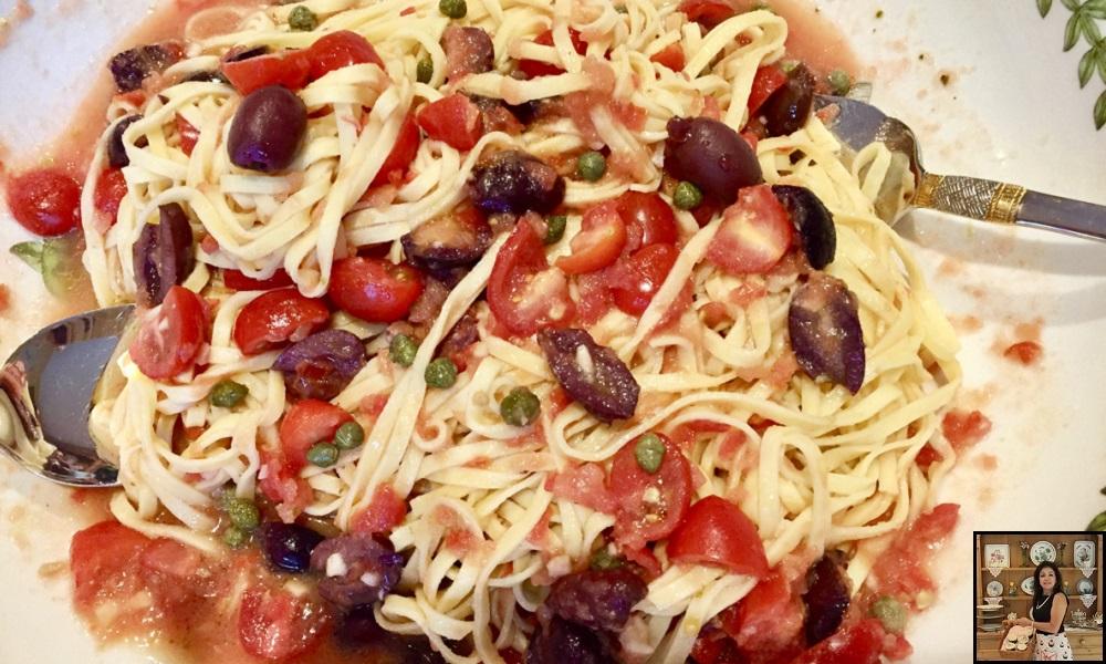 no-cook spaghetti alla puttanesca