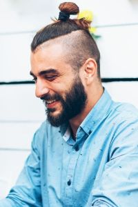 Top knot hairstyle for men 2020