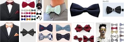 sample of recommended men's bow tie design and colour