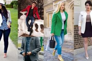 best ways to combine blazer and jeans