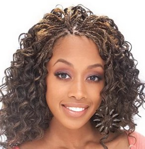 partial micro braids hairstyles with weaves