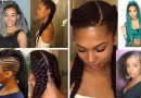 trending ladies braids hairstyles of different colors