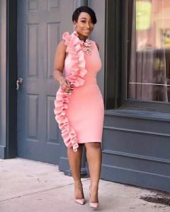 plain pink ankara gown style