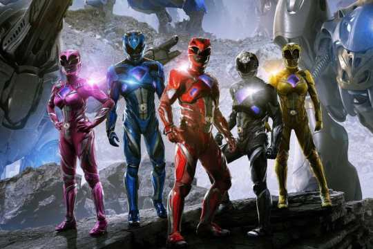 buzz review of power rangers 2017 poster 1