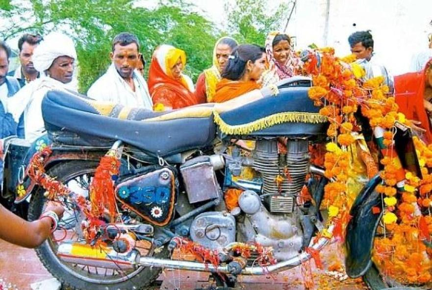 Not really religion, but only spiritual movement -Bullet Baba's Motorbike