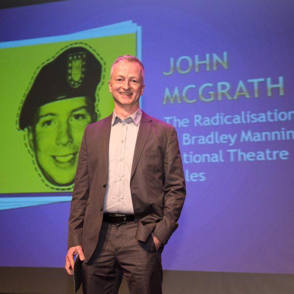 John McGrath accepting Best Director. Photo Mei Lewis