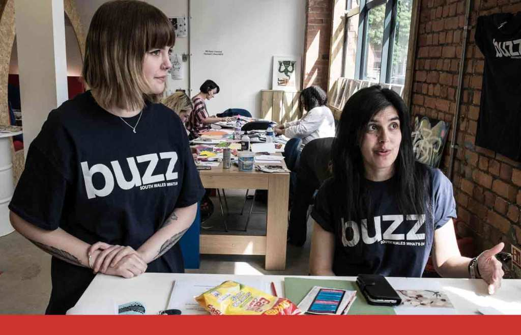 Buzz Culture 2 girls working