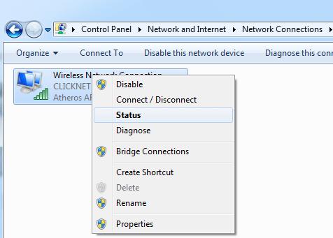 Control pannel adresa IP