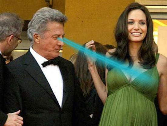 Dustin Hoffman masturbating Angelina Jolie