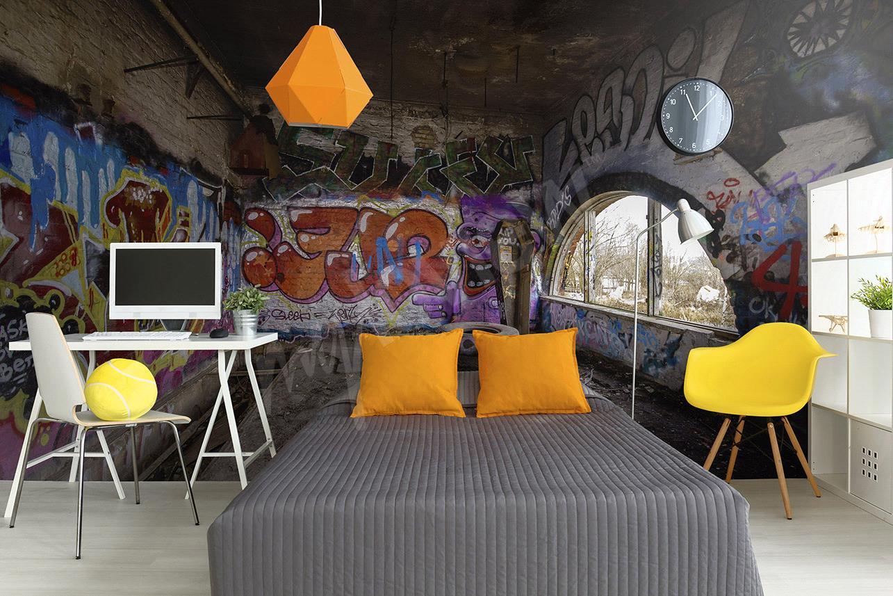 Papier peint graffiti  un style urbain pour votre dco