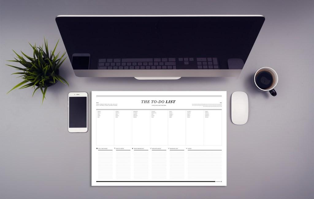 The To-Do List – Stylishe Schreibtischunterlage