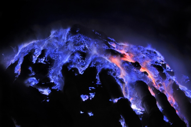 Blue Lava Volcano, Ijen Java Indonesia