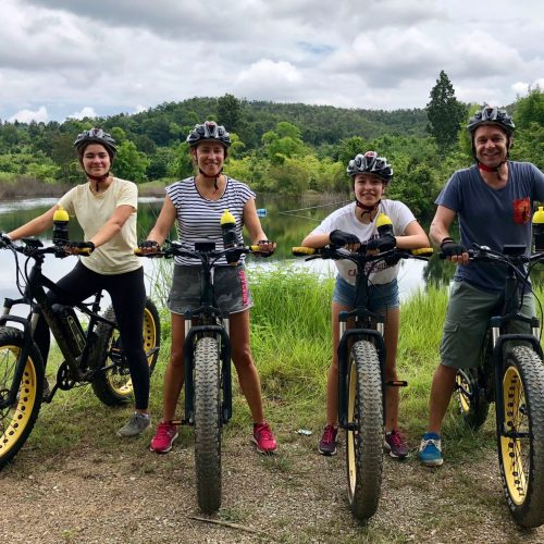 family at the lake | Buzzy Bee Bike, Chiang Mai, Thailand