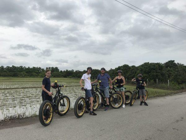 family E-biking in the rice fields | Buzzy Bee Bike, Chiang Mai, Thailand