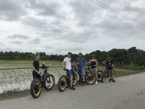 family E-biking in the rice fields | Buzzy Bee Bike, Chiang Mai, Thailand
