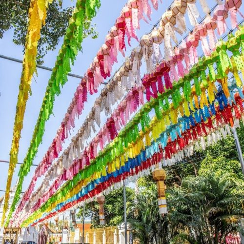 colorful decorations in Lamphun | Buzzy Bee Bike, Chiang Mai, Thailand