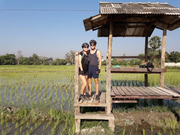 overlooking the rice fields | Buzzy Bee Bike, Chiang Mai, Thailand