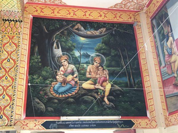 Wat Ban Pong wall painting | Buzzy Bee Bike, Chiang Mai, Thailand