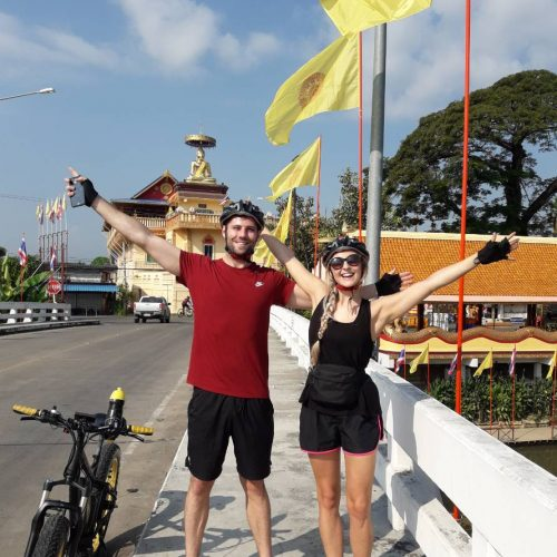 bridge over the Ping River | Buzzy Bee Bike, Chiang Mai, Thailand