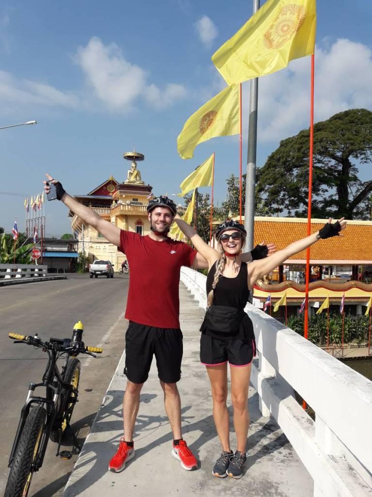 bridge over the Ping River   Buzzy Bee Bike, Chiang Mai, Thailand