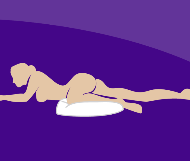 Bending Your Leg At The Knee Using A Pillow Is A Comfortable Position To Have Anal