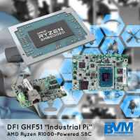 "DFI GHF51: DFI's 1.8"" SBC Powered by AMD Ryzen Embedded R1000"
