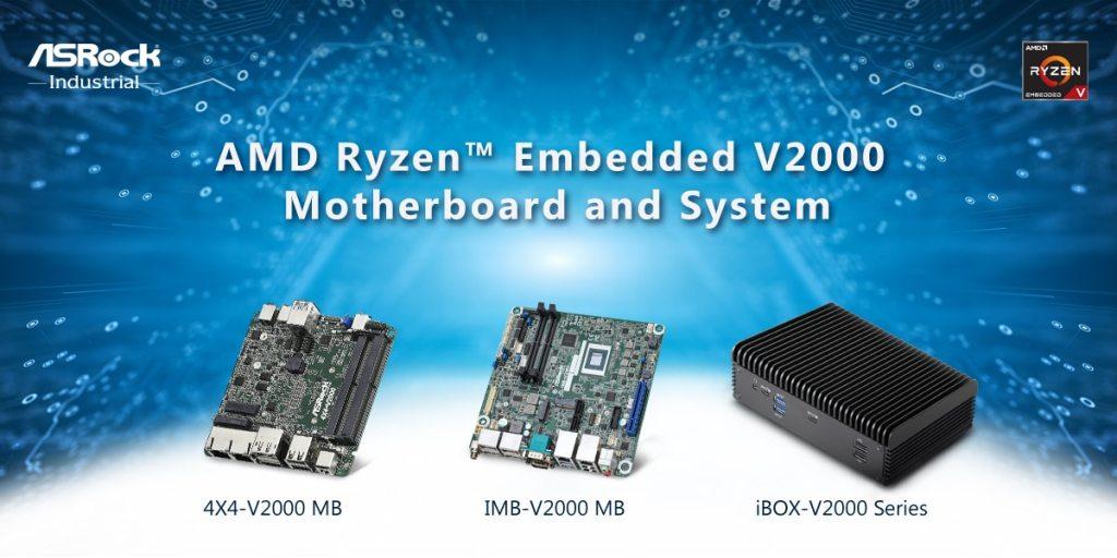 ASRock Ind. AMD V2000 MB and System