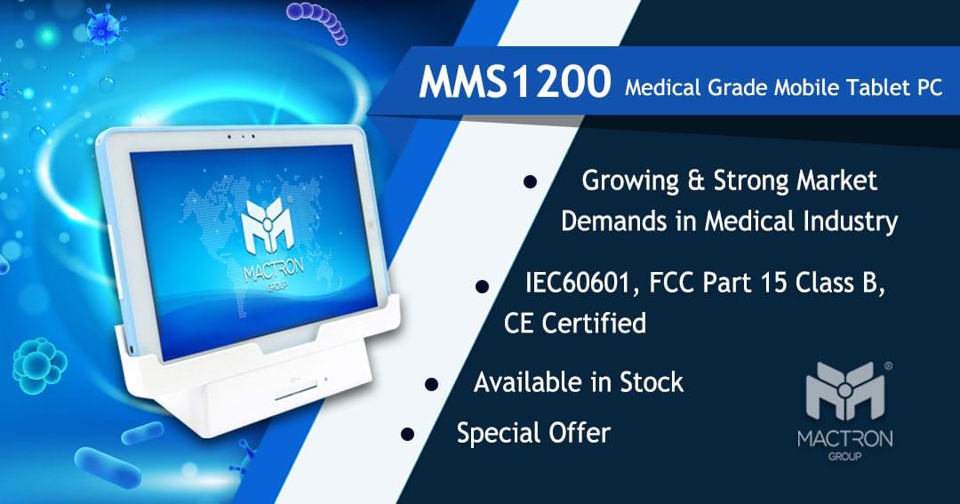 MACTRON 12 Medical Grade Mobile Tablet PC 1
