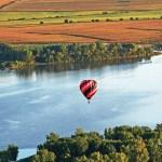 Hot air balloon over Storm Lake