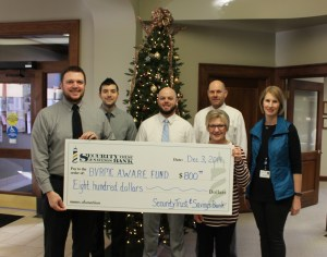 Security Trust and Savings Bank Donation to BVRMC AWARE