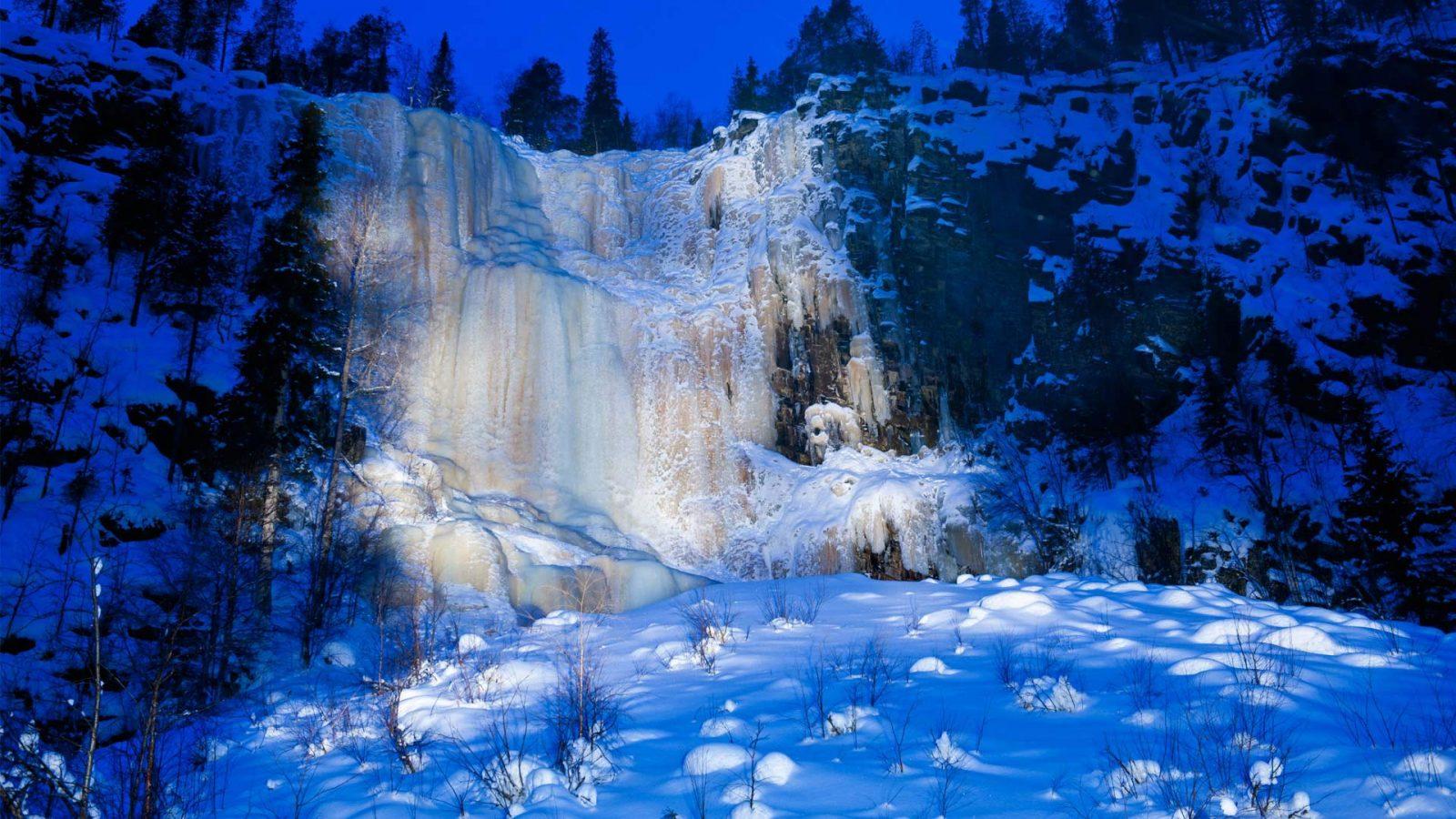 Frozen Waterfall – Bing Wallpaper Download