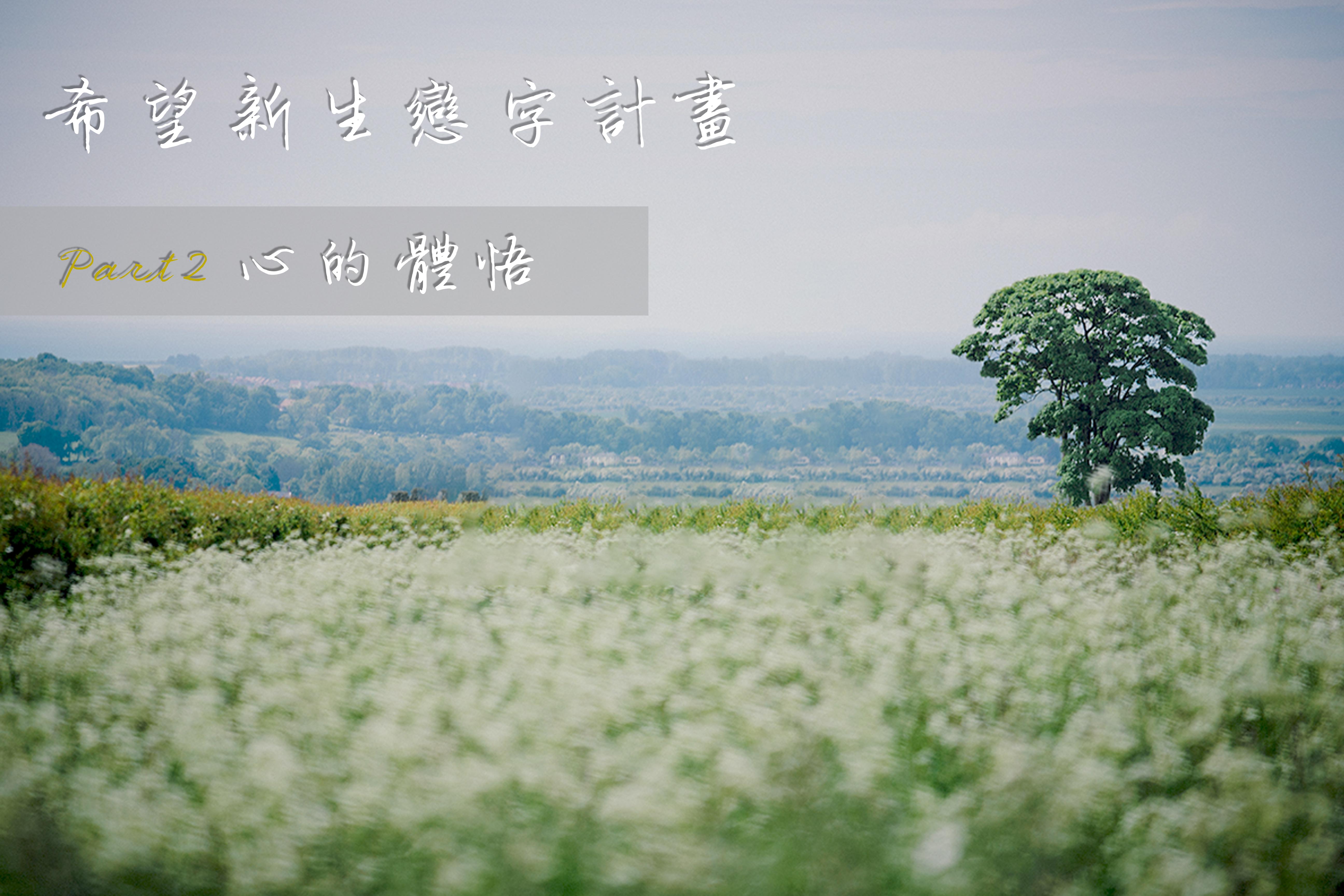 希望新生戀字計畫 Part2【心的體悟】