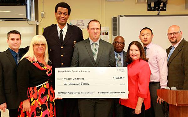 Sloan Public Service Award winner Vincent DiGaetano was