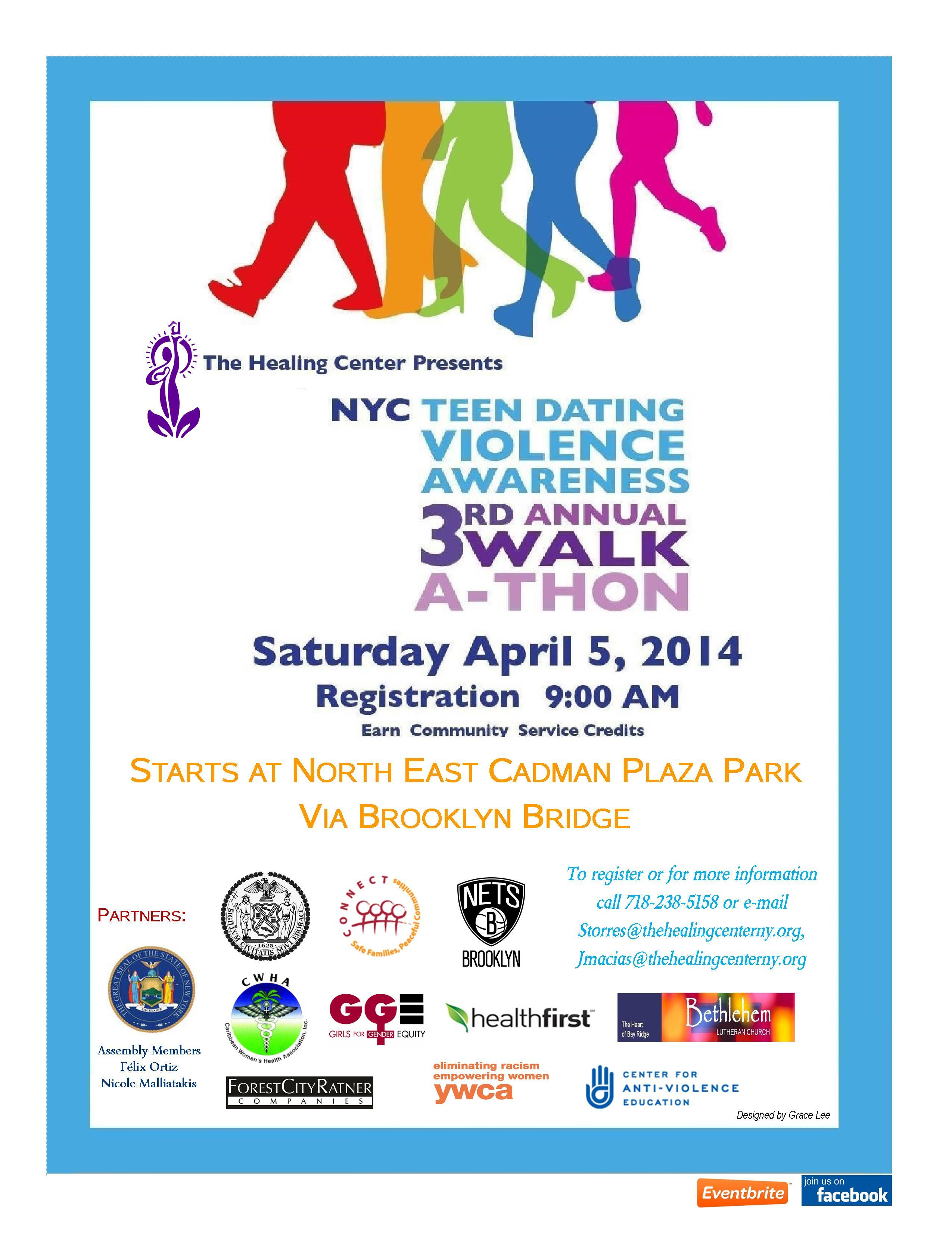 Join us for the NYC Teen Dating Violence Awareness WalkAThon  Harry S Truman High School