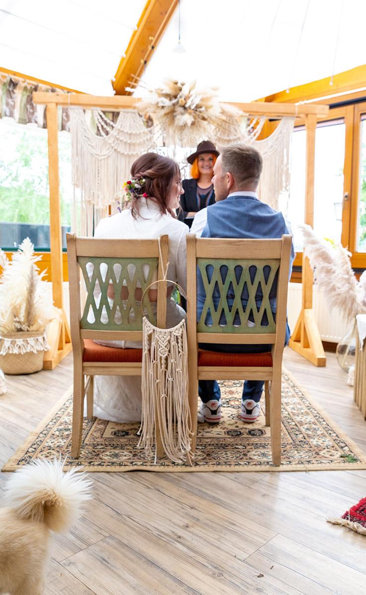 Brautpaar mit Traurednerin Miriam
