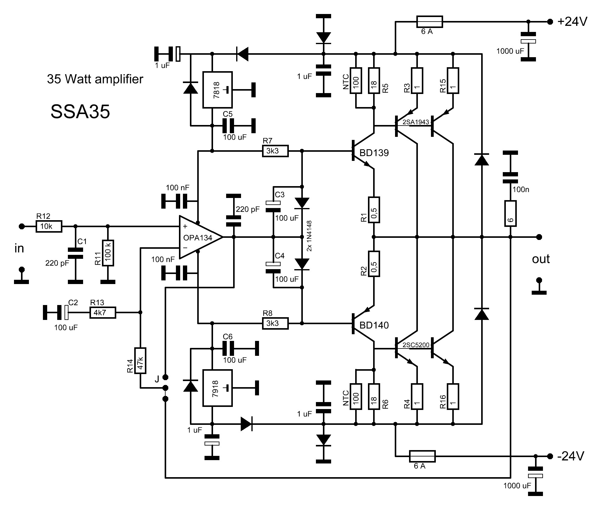 hight resolution of 2sc5200 amplifier circuit diagrams