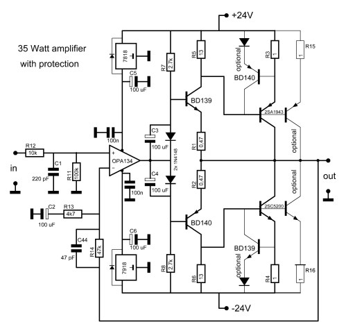 small resolution of 2sc5200 2sa1943 amplifier circuit the main diagram 2sc5200 2sa1943 amplifier circuit