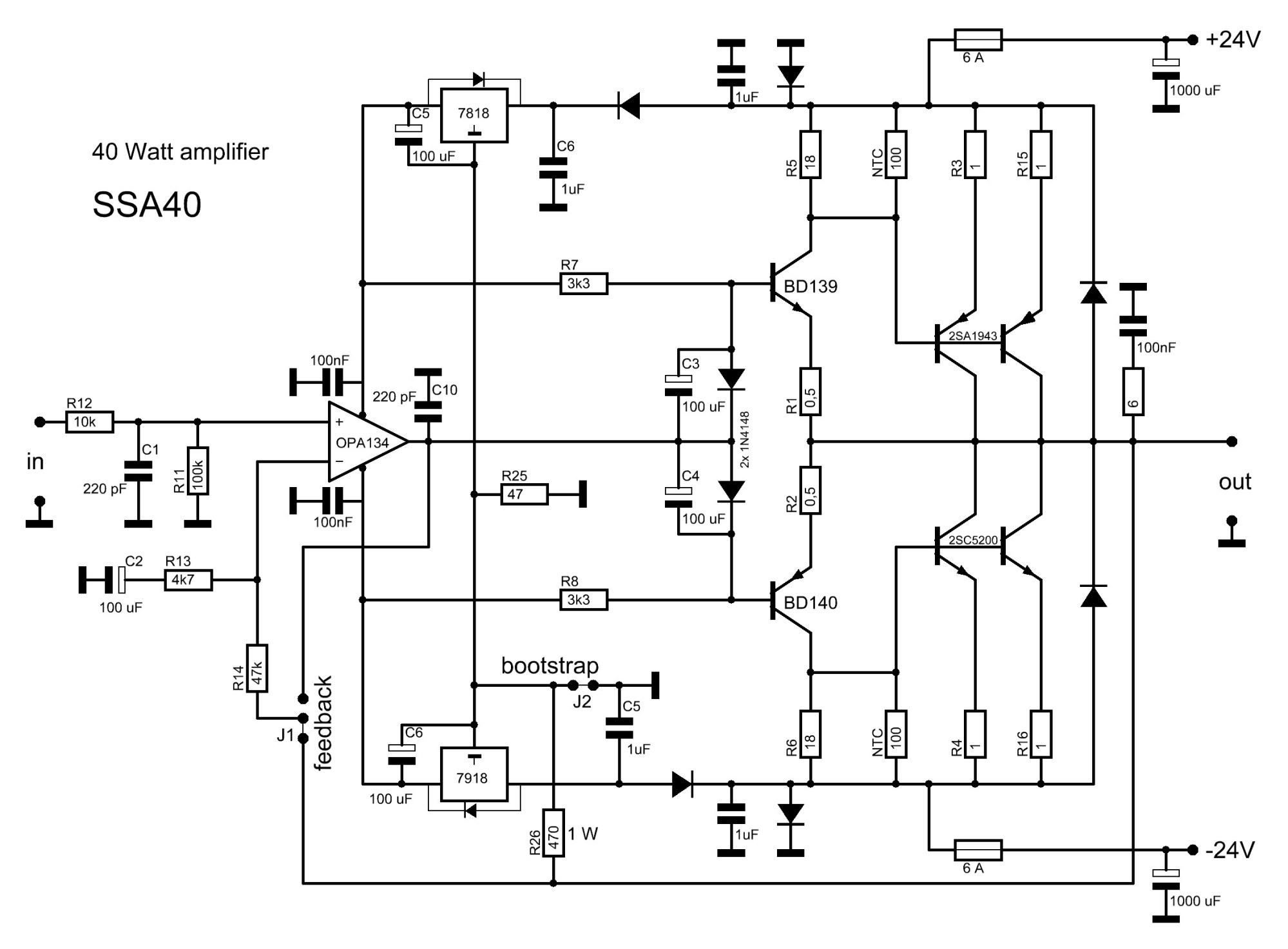 hight resolution of 2sc5200 2sa1943 amplifier circuit diagram the bootstrapped amp 2sc5200 2sa1943 amplifier circuit diagram